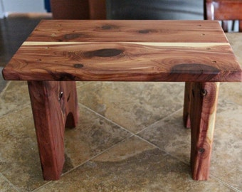 step stool, wood step stool, kids step stool, kitchen step stool, cabin furniture