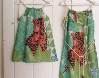 Girls African Tiger Print Dress.Size 2,4 & 6 available.