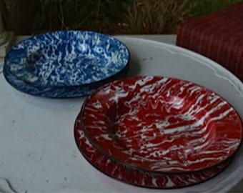 Set of 4 Splatterware...