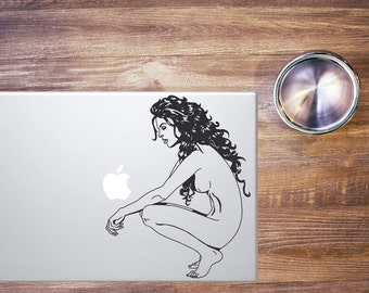 Macbook Sticker Woman