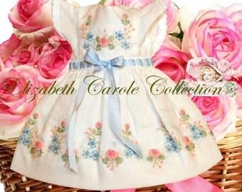 "8 inch Doll Dress -  ""Limited Edition"" Cotton NEW 8 inch Doll or 6 inch Doll Madame Alexander 8"" Ginny American Girl Mini PatsyDoll Dress"