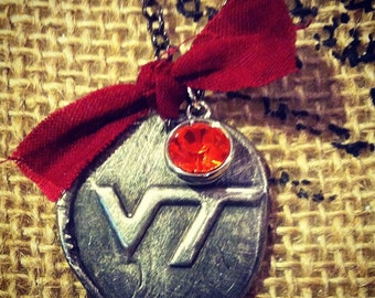 VT Virginia Tech Wax Seal Token Necklace