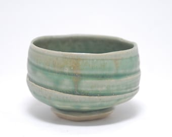 Turquoise Chawan/Tea Bowl w/ free whisk