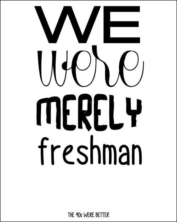 90s The Verve Pipe We were Merely Freshman INSTANT DOWNLOAD 8x10 Print