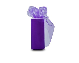 Vibrant Purple Classic Wedding Tulle Spool of 25 Yard, Purple Tulle Spool For Decorating Special Purple Theme Wedding Or Any Party Occasion,