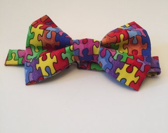 Colorful Puzzle bow tie.