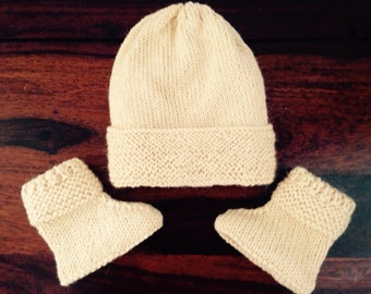 Baby Hat and Boot set