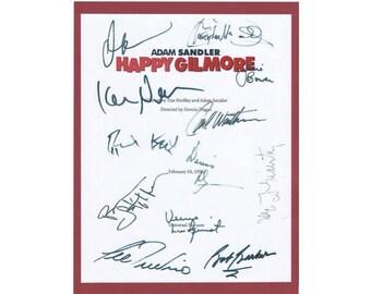 Happy Gilmore Entire Movie Script Screenplay Autographed: Adam Sandler, Christopher McDonald, Julie Bowen, Carl Weathers, Ben Stiller