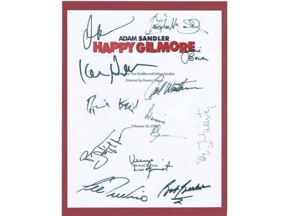 happy gilmore entire movie script screenplay autographed adam