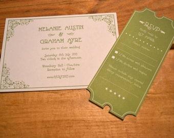 1920's 'Silent film' Wedding Invitation, Website & Stationery - Printable - Customisable