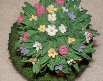 Resin Bouquet of Flowers Candle Topper