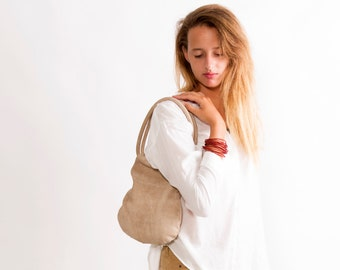 Sale!!! Small Leather Purse, Purse bag in beige, distressed leather handbag, leather handbag small, Evening bag