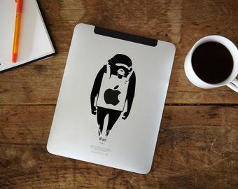 Banksy Monkey iPad Decal