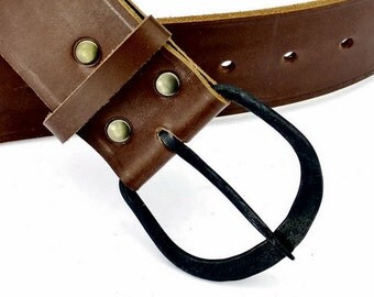 Medieval Belt with hand forged buckle - [10 Ei-G 5]