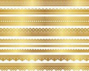 Instant Download Digital Gold Lace Dolly Clipart Golden Lace Border Element Digital Lace Border Scrapbook Lace Clip Art Dolly Clipart 0256