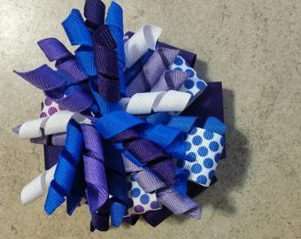 Blue and Purple Polka Dot Corker