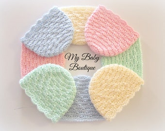 Easy Baby Caps - CROCHET PATTERN| Girls| Infant| Cute| Gift| Shower| Preemie| Newborn| Doll| Hats| Months