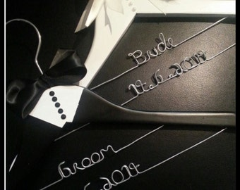 Set of Bride & Groom Hangers