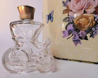 SALE: Vintage Avon Carriage Perfume Bottle / Knick Knack, Moonwind Cologne, Cute Bedroom Decor, Cottage Chic, Dressing Table, Bathroom Decor