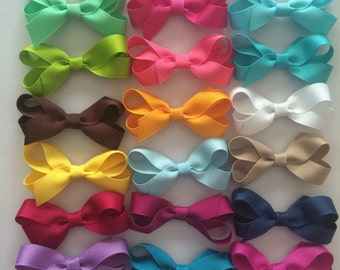 Baby Bows, bundle of 20- You Pick your own colors (listed in description)!