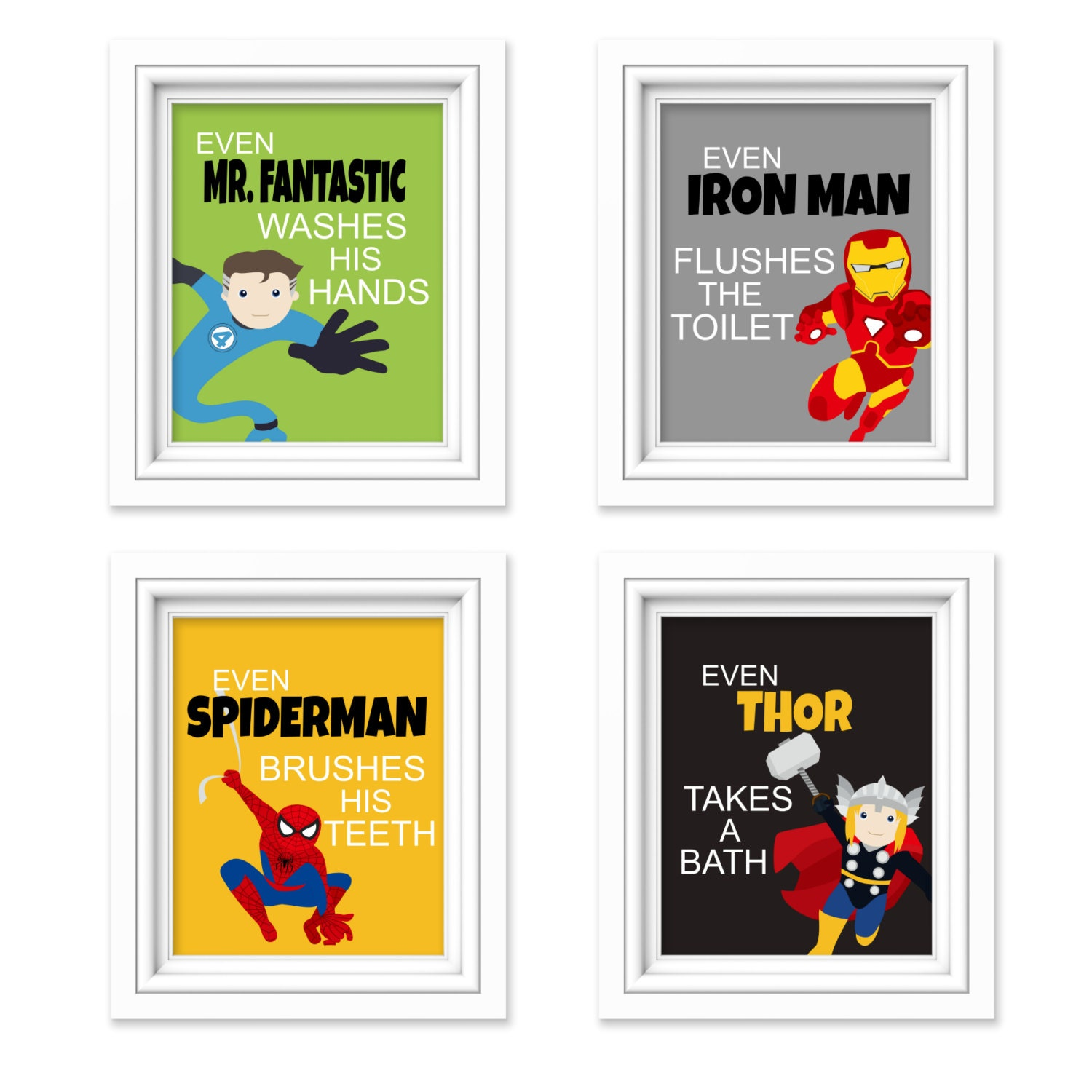 Superhero Bathroom Decor Kids Bathroom Decor Boys Bathroom