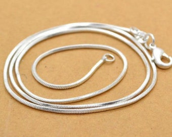 """Sterling Silver Necklace - Stunning 2MM 925 Sterling - BEST SELLER!   Available in 18"""", 20"""", 22"""" or 24"""" lengths.  Now 10% OFF the sale price"""