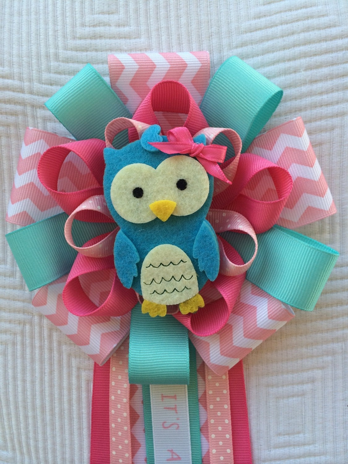 pink baby shower owl corsage its a girl corsage blue owl baby