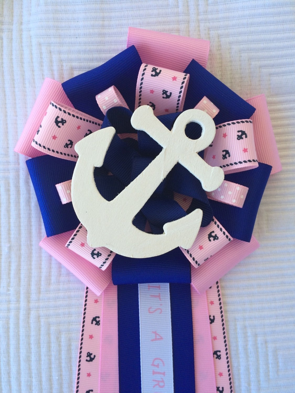 nautical baby shower corsage sailing baby shower corsage