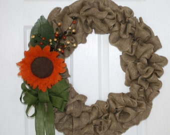 Sale burlap bridal bouquet burlap roses large by for Fall wedding bouquets for sale