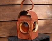 Vintage Railroad Lantern, Old Signal Lantern