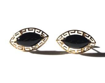 Marquise Black Onyx Earrings (1741)