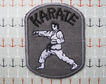 KARATE Iron on Patch / Jean patch