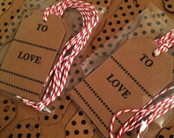 Pack of 4 letterpress gift tags