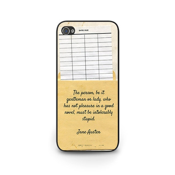 Jane Austen Quote Phone Case - Jane Austen iPhone 6 Phone Case - Librarian Gift for readers iPhone 5S iPhone 5C library phone case