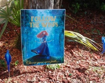 """Brave Merida""""Follow The Wisps' Scavenger Hunt Birthday Party Game - Instant Download  Princess Themed SALE!!"""