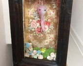 """Ghost Habitat Shadow Box - """"Curled Up Over the Garden"""""""