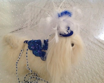 Small Toy Dog Harness & Leash / Hat