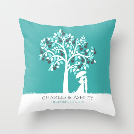 Customized Throw Pillows In Lagos : Custom Personalized Wedding Throw Pillow Cover Decorative