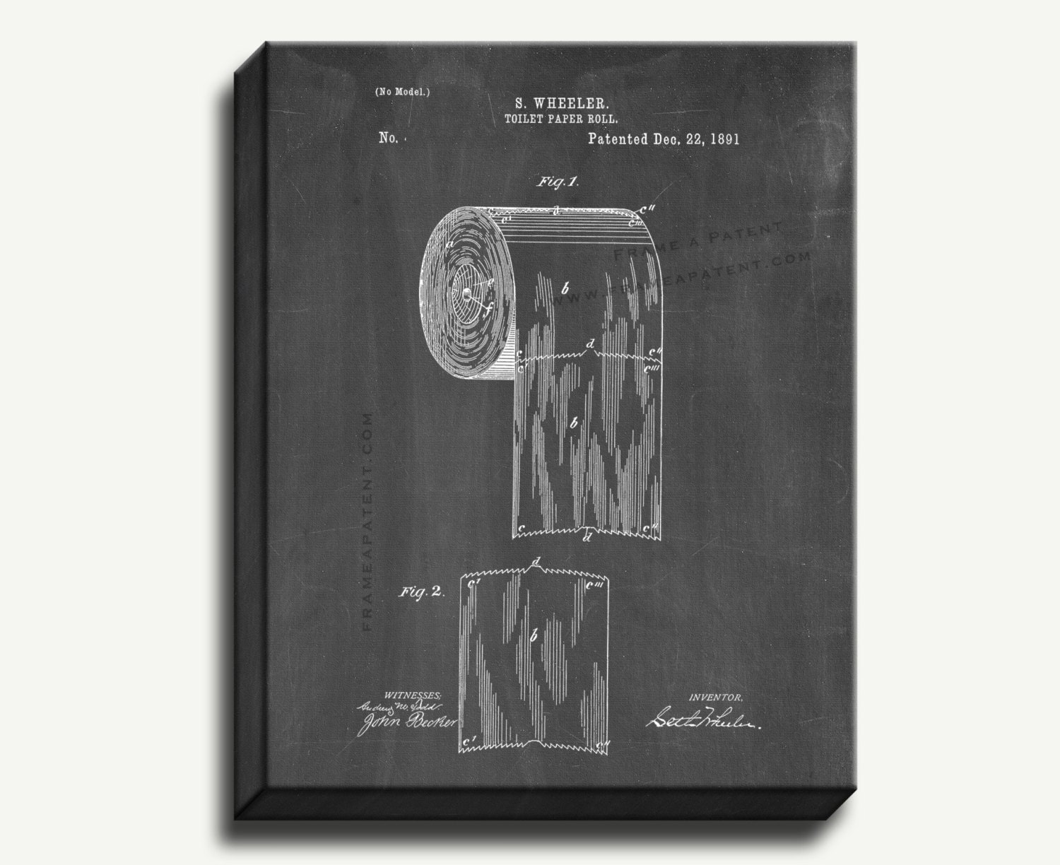 Toilet Roll Patent Images