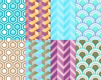 Geometric seamless pattern backgrounds
