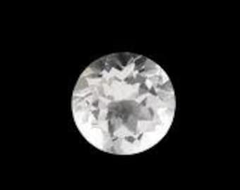 White Topaz Round Loose Gemstone 9mm TGW 2.78 cts.