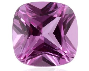 Pink Sapphire Synthetic Lab Created Loose Gemstone Cushion Cut 1A Quality 6mm TGW 1.10 cts.
