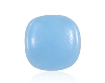 Blue Jade Dyed Cabochon Loose Gemstone Cushion 1A Quality 9mm TGW 3.00 cts.