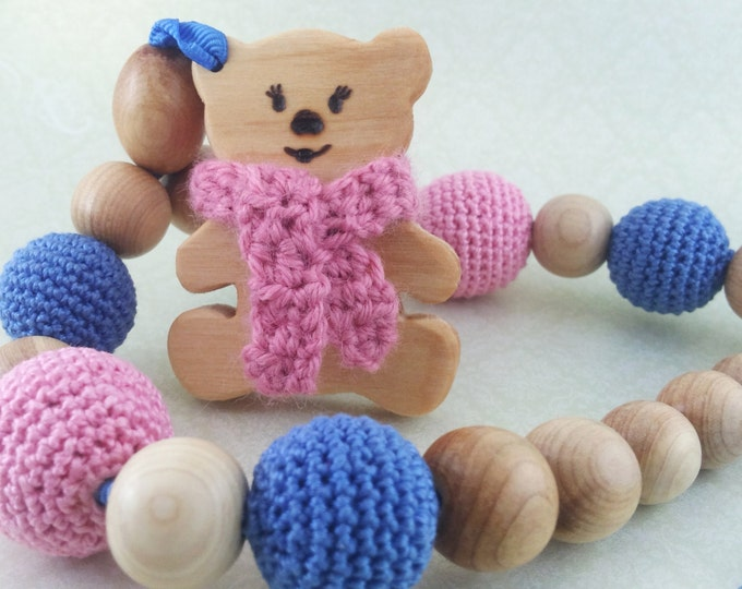"Eco-Beads for development of fine motor skills babies ""Bear in the north"""