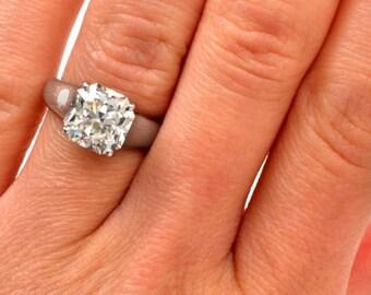 Tiffany & Co. 4.01Ct GIA G-VS1 Lucida Diamond Platinum Engagement Ring