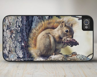 "Squirrel iPhone 5 Case, Squirrel iPhone 5s Case, Squirrel iPhone Cover Protective Squirrel Phone Case ""Picnic Perch"" 50-3133"