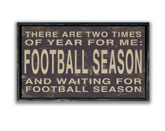 Wooden Football sign Handmade signs football decor football quotes football plaques football gifts masuline gifts gameday decor gameday sign