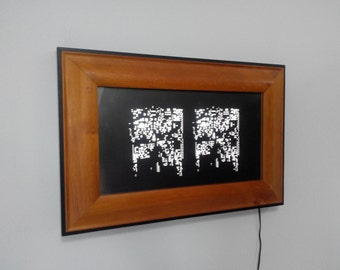 Shim Framed A - Lighting Art