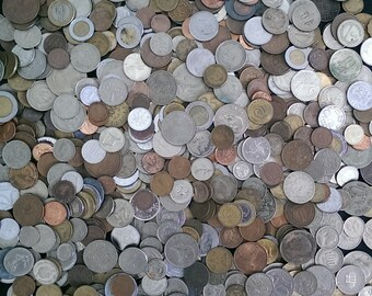 1/2 POUND World Coin Lots! 0.5 lb Mixed World Coins + BONUS with Every Lot!