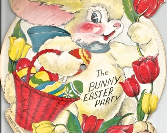 Vintage Easter bunny rabbit digital download digital art children's record clip art 300 dpi